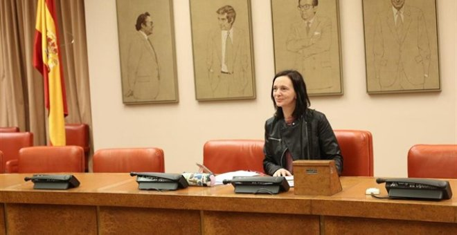 Carolina Bescansa en el Congreso. EUROPA PRESS/Archivo