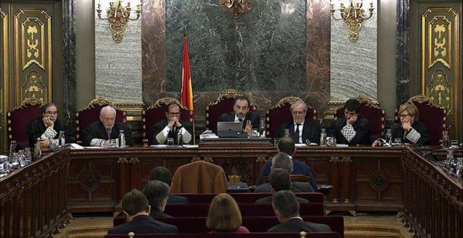 Vista general del juicio en el Tribunal Supremo. (EFE)