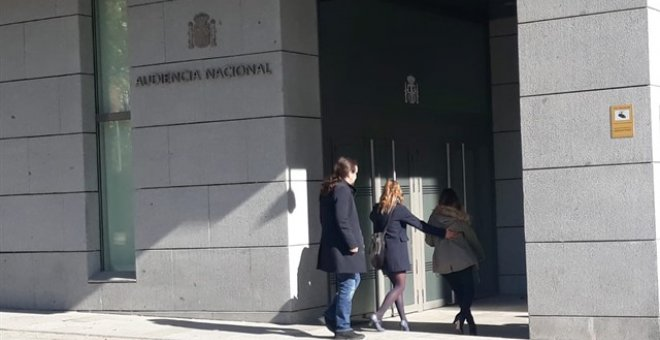 Pablo Iglesias entrando en la Audiencia Nacional. /EUROPA PRESS