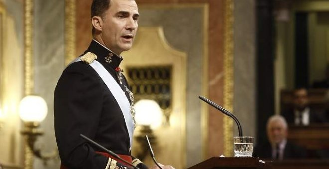 Felipe VI en el Congreso. / Europa Press