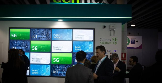 Stand de Cellnex en el Mobile World Congress, en Barcelona. E.P./David Zorrakino