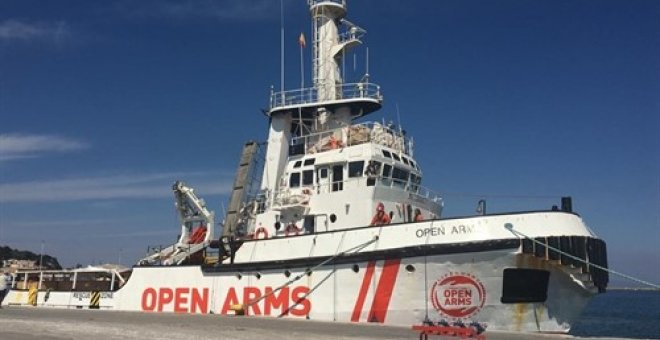 El buque de la ONG Proactiva Open Arms. Europa Press