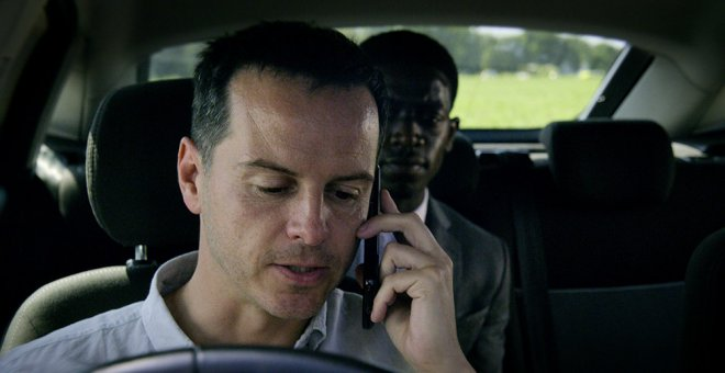 El actor Andrew Scott, en un capítulo de Black Mirror. Netflix.