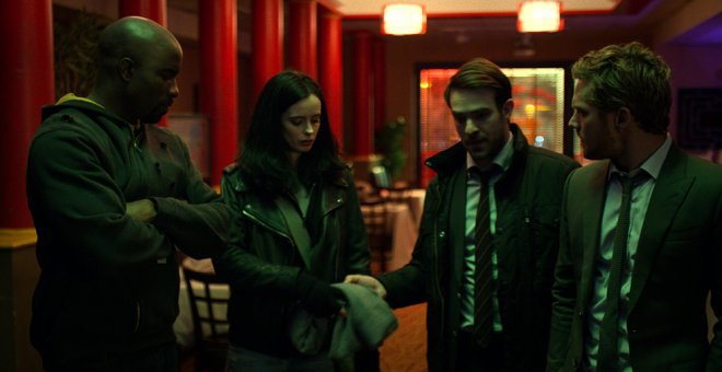 Escena de la serie 'The Defenders'.