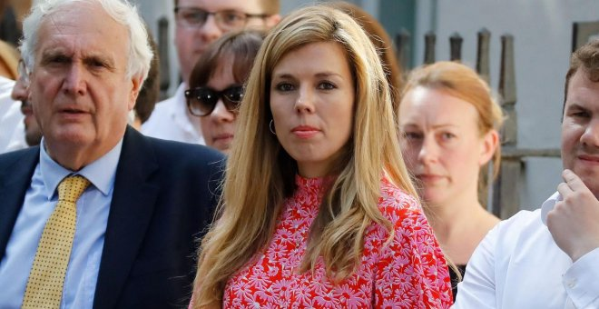 Carrie Symonds. AFP