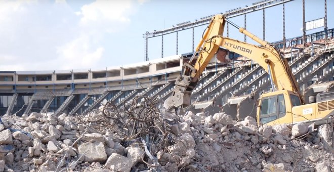 Obras de demolición del Estadio Vicente Calderón, en Madrid. IDEALISTA NEWS