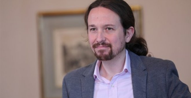 El secretario general de Podemos, Pablo Iglesias, en el Congreso. / EUROPA PRESS