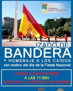 Cartel del Ayuntamiento de Los Molinos.