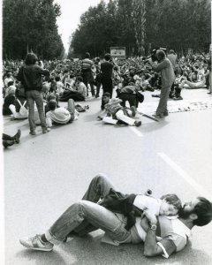 Manifestación contra el ingreso en la OTAN, 1981. EFE