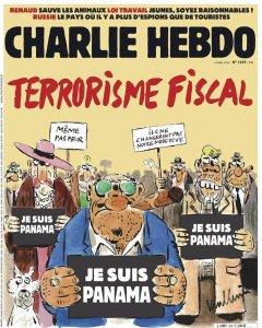 """La portada que la revista francesa 'Charlie Hebdo' dedica al asunto de los """"papeles de Panamá"""". Charlie Hebdo/Majorelle Pr"""