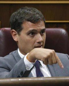 El presidente de Ciudadanos, Albert Rivera, durante la sesión del debate de investidura. - EFE