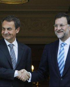 Zapatero y Rajoy.- EFE