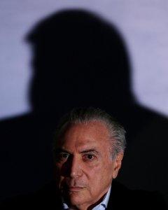 El presidente de Brasil, Michel Temer, durante una conferencia de prensa. - REUTERS