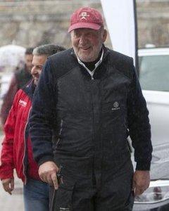 El rey emérito Juan Carlos de Borbón, en el Club Náutico de Sanxenxo. Maria Muiña/Sailingshots