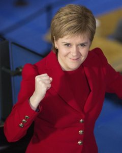 Fotografía de la líder del Partido Nacionalista Escocés (SNP), Nicola Sturgeon. EFE/Robert Perry