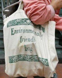 Bolsa de tela reutilizable. EFE