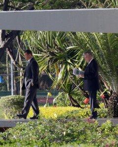 El presidente Temer sale del Palacio de Jaburu, en Brasilia/ REUTERS