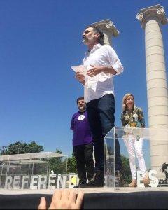 Intervención del presidente de Òmnium Cultural, Jordi Cuixart