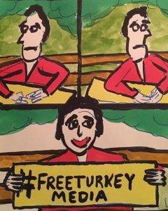 Viñeta para una campaña de Amnistía Internacional por la libertad de prensa en Turquía /Stephan Simanowitz