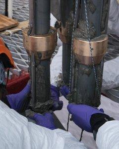 Sedimentos del fondo del lago Mercer extraído por el equipo de científicos.- SALSA