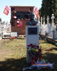 El busto de Pablo Iglesias, situado en uno de los monumentos de PSOE-UGT, que ha originado la polémica.- UGT