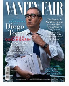 La portada de Vanity  Fair con Diego Torres.(Vanity Fair)
