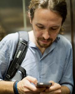 Pablo Iglesias, en Madrid. / DAVID SABADELL