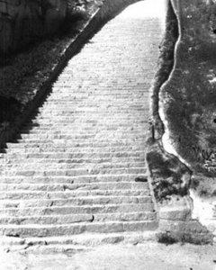 Escalera de la cantera de Mauthausen. FNDIRP