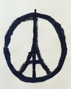 Peace for Paris, la viñeta de Jean Jullien.