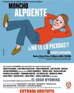 Cartel Homenaje Moncho Alpuente