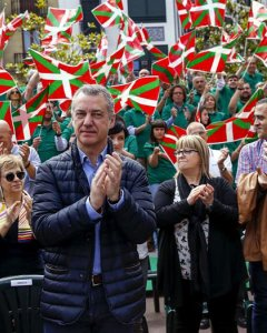 El lehendakari, Iñigo Urkullo, en el acto del PNV. EFE