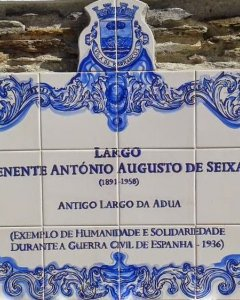 Calle en Barrancos que homenaje al Teniente Seixas