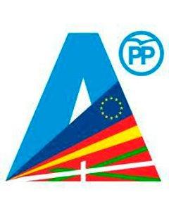 El logo que el PP vasco presenta para las elecciones.