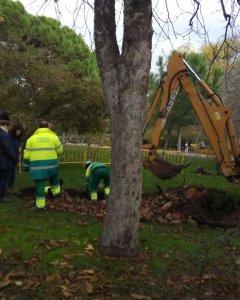 Imagen del primer día de la excavación.- Asociación Vecinal Retiro Norte.