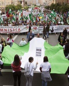 La Marcha de la Dignidad en Sevilla coincidiendo con la celebración del Día de Andalucía.EFE/Pepo Herrera