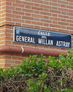 Calle del General Millán Astray, una de las que serán sustituidas /EUROPA PRESS