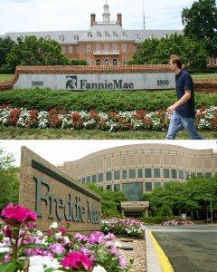 Las sedes de las agencias hipotecarias estadounidenses Fannie Mae y Freddie Mac. AFP