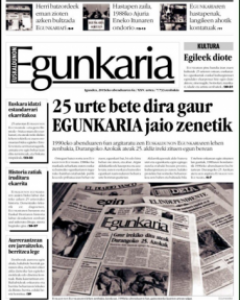 Ejemplar del periódico 'Egunkaria'.