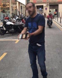 Imatge de l'agressor de Jordi Borràs difosa a les xarxes socials.