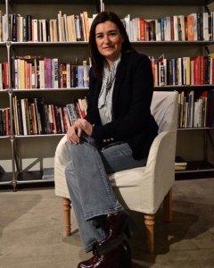 Carmen Montón durante la entrevista