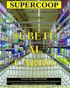 Cartel del supermercado cooperativo Supercoop.