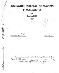 Portada del expediente tramitado a Octavio García por la ley de Vagos y Maleantes. Archivo de Antoni Ruiz