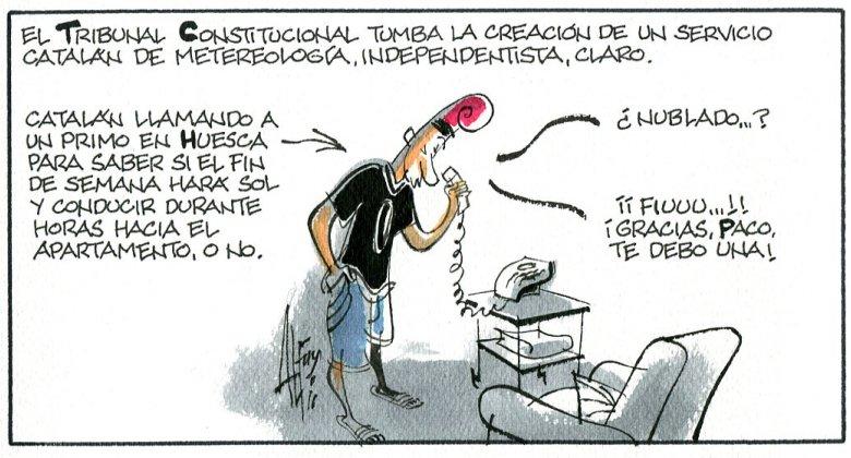 Viñeta de Alfons. Título: El Constitucional y Catalunya. Fecha: sábado 9 de julio.
