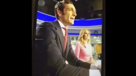 Los presentadores de Antena 3 Sandra Golpe y Álvaro Zancajo.