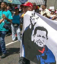 Manifestación de chavistas a favor de Maduro. EFE