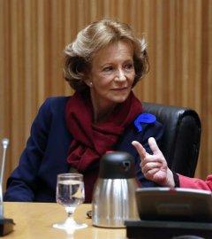 La exministra de Economía socialista Elena Salgado en el Congreso. /EFE