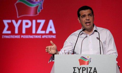 El primer ministro griego, Alexis Tsipras, durante su intervención ante el Comité Central de Syriza.- REUTERS