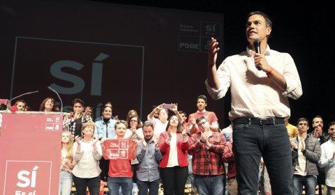 El precandidato a la Secretaría General del PSOE Pedro Sánchez. - EFE