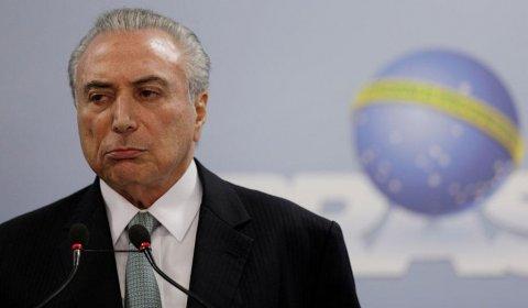 Temer, durante una rueda de prensa en Brasilia este jueves. REUTERS/Ueslei Marcelino