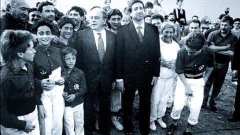 El abogado y financiero Javier de la Rosa con el entonces president de la Generalitat, Jordi Pujol